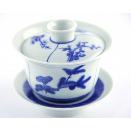 Gaiwan qing hua 190 ml aux 3 décors