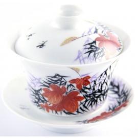 Gaiwan 140 ml en porcelaine de Jingdezhen