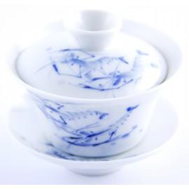 Gaiwan Qing Hua 100 ml décoré de crevettes