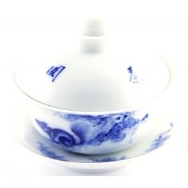 Gaiwan Qing Hua 110 ml en porcelaine de Jingdezhen