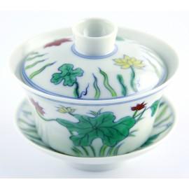 Gaiwan 150 ml en porcelaine de Jingdezhen