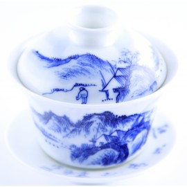 Gaiwan Qing Hua 140 ml décor traditionnel