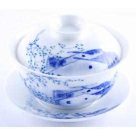 Gaiwan Qin Hua 140 ml porcelaine très fine