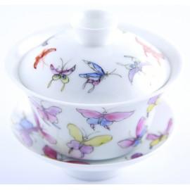 Gaiwan 100 ml avec papillons de couleurs