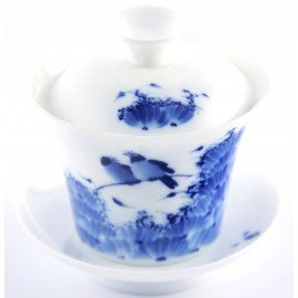 Gaiwan Qin Hua 120 ml orné de pies