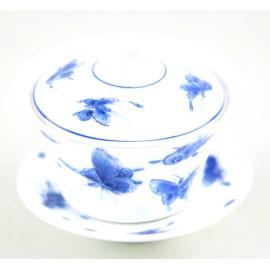 Gaiwan Qing Hua 100 ml avec papillons