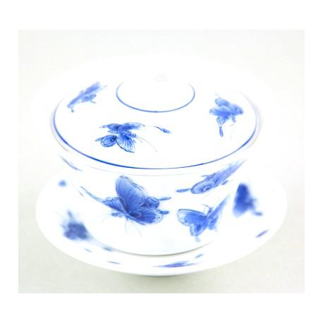 Gaiwan Qing Hua avec papillons 100 ml