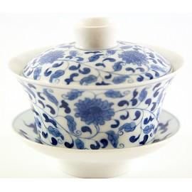 Gaiwan Qing Hua avec pivoines 140 ml