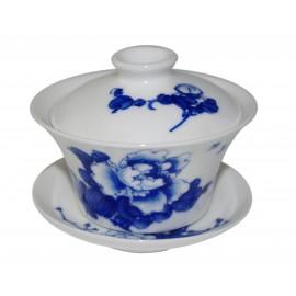Gaiwan Qing Hua 100 ml avec une pivoine