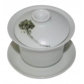 Gaiwan 120 ml porcelaine de Jingdezhen
