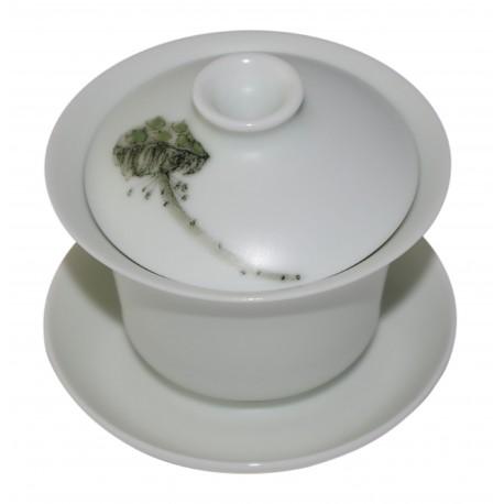 Gaiwan en porcelaine de Jingdezhen peint à la main 120 ml