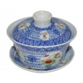 Gaiwan de style Qin Hua richement décoré 130 ml