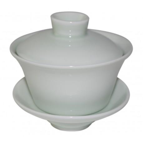 Gaiwan en porcelaine couleur jade claire 135 ml