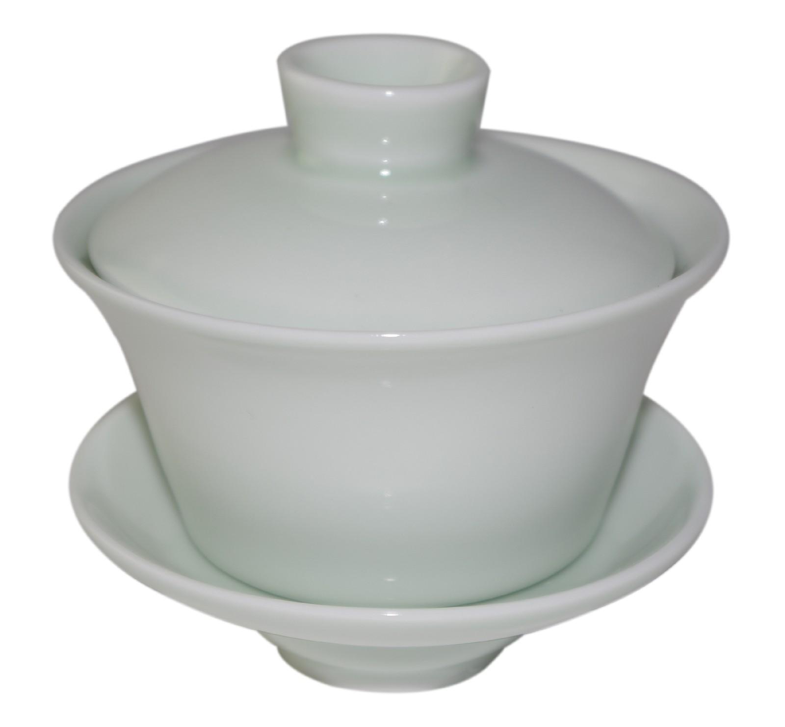 Gaiwan en porcelaine couleur unie jade clair 120 ml