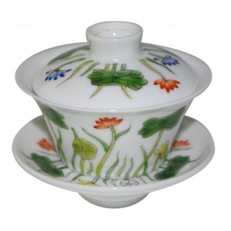 Gaiwan 100 ml en porcelaine peint à la main
