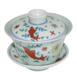 Grand gaiwan en porcelaine couleur jade clair 150 ml