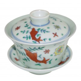 Grand gaiwan en porcelaine couleur jade clair 150 ml