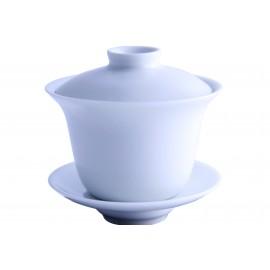 Gaiwan en porcelaine 180 ml couleur crème satinée