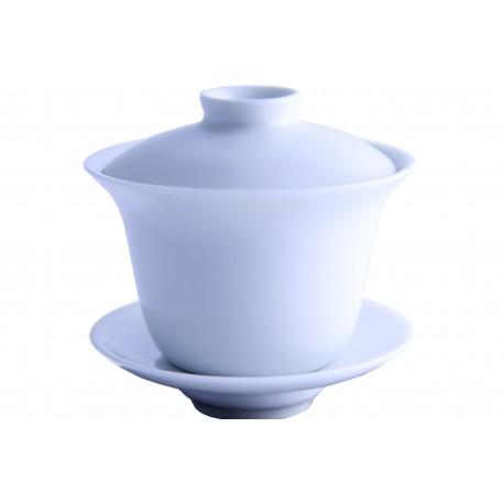 Gaiwan en porcelaine 180 ml couleur ivoire satin