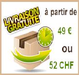 Frais de port offert à partir de 48€